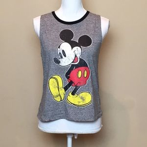 DISNEY Mickey Mouse Tank Top Vintage Graphic Med